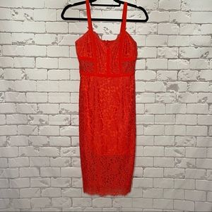 Express Lace Dress Dark Coral Size 0